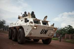 UN peacekeepers have also been targeted in the recent CAR unrest.  By FLORENT VERGNES (AFP/File)