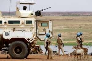 Une unité de soldats sénégalais de la Minusma à Gao, le 24 juillet 2019.  By Souleymane Ag Anara (AFP/File)