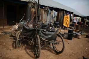 Unemployment and poverty levels are high in Nigeria and options are severely limited for blind people.  By Kola Sulaimon (AFP)