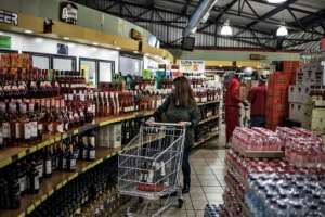 Until Monday, alcohol sales were banned under South Africa's strict lockdown regulations which came into effect on March 27.  By MARCO LONGARI (AFP)