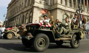 US jeeps were pressed into service in 2004 to celebrate the 60th anniversary of the liberation of Marseille, southern France, on August 29, 1944.  By GERARD JULIEN (AFP/File)