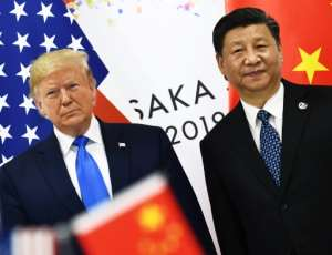 US President Donald Trump and China's Xi Jinping -- seen here in June 2019 -- started to redefine one of the world's most significant geopolitical relationships in the 2010s.  By Brendan Smialowski (AFP/File)
