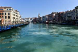 Venice is enjoying crystal clear waters in its canals due to a lack of debris from tourists and near-zero boat traffic under Italy's virus lockdown.  By ANDREA PATTARO (AFP)