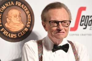 Veteran US talk show host Larry King has been hospitalised with Covid-19.  By ANGELA WEISS (AFP/File)