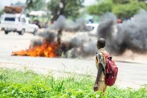 Violent demonstrations erupted across Zimbabwe on January 14.  By ZINYANGE AUNTONY (AFP/File)