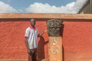 Voodoo's comeback has lured tourists to Porto-Novo, providing work for tourist guide Messie Boko.  By Yanick Folly (AFP)