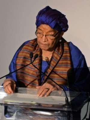 Warning: Former Liberian President Ellen Johnson Sirleaf.  By Andrew H. Walker (GETTY IMAGES NORTH AMERICA/AFP/File)