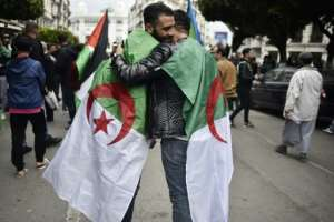 Weeks of protests across Algeria have been largely peaceful. By Ryad KRAMDI (AFP)