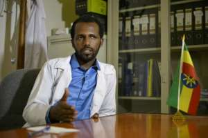 Welday Hagos, a clinical psychologist and director of the rehab centre, says he believes that khat is a gateway drug to harder substances.  By MICHAEL TEWELDE (AFP)