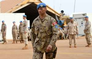 While Canada orginated the concept of peacekeepers in the 1950s, it has not deployed troops on UN peacekeeping missions for more than a decade.  By SEYLLOU (AFP)