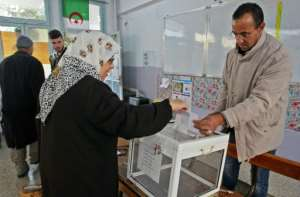While only a trickle of voters cast their ballots in some districts, Algerian national television showed longer queues elsewhere.  By STRINGER (AFP)