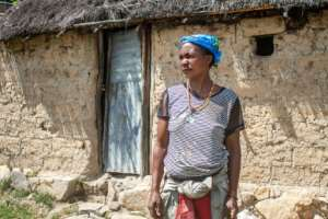 With barely enough for her and her children, Mousaka Fernanda also has to provide for her own mother who is too weak to fend for herself.  By Osvaldo Silva (AFP)