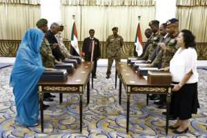Women account for just two of the 11 members of the new ruling body, which is meant to guide Sudan through 39 months of transition to full civilian rule, and one of them was not included in the original list put foward by protest leaders.  By - (SUDAN PRESIDENTIAL PALACE/AFP)