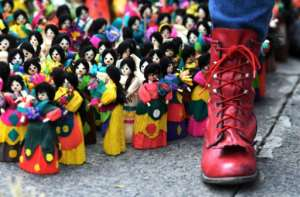 Women killed in Honduras were remembered.  By ORLANDO SIERRA (AFP)