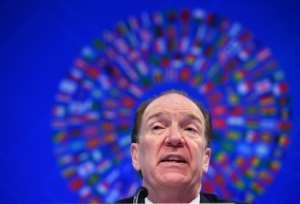 World Bank President David Malpass warns 17 African nations are at risk of a debt crisis.  By MANDEL NGAN (AFP)