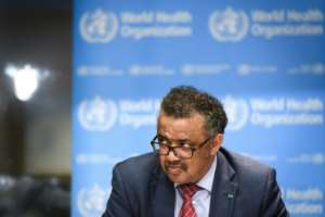 World Health Organization (WHO) Director General Tedros Adhanom Ghebreyesus: 'We will not rest until the outbreak is finished'.  By Fabrice COFFRINI (AFP)