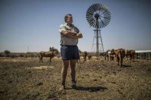 Worried: Farmer Johan Steenkamp.  By Guillem Sartorio (AFP)