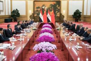 Xi spent the weekend in one-on-one meetings with leaders from the continent who arrived early for some face time with the head of the world's second-largest economy.  By Nicolas ASFOURI (POOL/AFP)