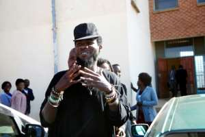 Zambian Musician Chama Fumbe, popularly known as Pilato, is no stranger to legal troubles. Here he is seen leaving a Lusaka court in 2015, during a  trial for 'conduct likely to breach the peace'.  By Dawood Salim (AFP)