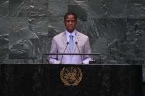 Zambian President Edgar Chagwa Lungu has fired the head of the armed forces.  By Bryan R. Smith (AFP)