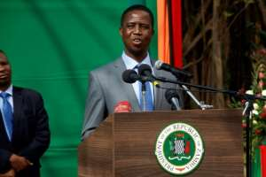 Zambian President Edgar Lungu has said he will seek a fresh five-year term in 2021, prompting opposition parties to block him.  By DAWOOD SALIM (AFP/File)