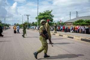 Zanzibar voted under heavy security.  By Patrick Meinhardt (AFP)