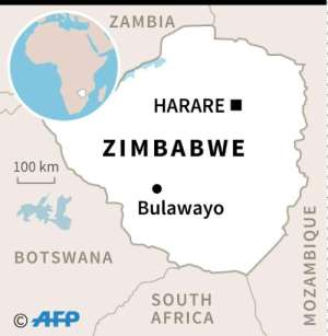 Map of Zimbabwe, which holds its first post-Mugabe presidential election on Monday, July 30..  By AFP (AFP)