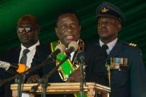 Zimbabwe President Emmerson Mnangagwa took over from his former boss, long-time autocrat Robert Mugabe.  By Jekesai NJIKIZANA (AFP/File)