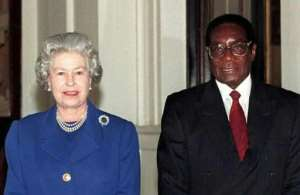 Zimbabwean ex-president Robert Mugabe ended his life stripped of his honorary British knighthood and barred from many Western countries.  By Johnny Eggitt (POOL/AFP/File)