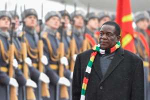 Zimbabwean President Emmerson Mnangagwa returned home on Tuesday.  By Alexander NEMENOV (AFP/File)