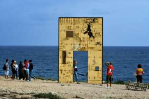 A memorial to the migrants who died has been erected in Lampedusa.  By Alberto PIZZOLI (AFP)
