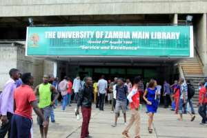 A notice stuck in front of the University of Zambia library reportedly urged female students to dress 'modestly' while inside.  By Dawood Salim (AFP/File)