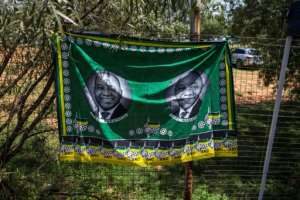 A banner supporting Deputy President Cyril Ramaphosa's bid to become the next head of the ANC