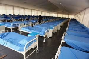 A coronavirus isolation centre, built at the Sani Abacha stadium in Kano, northwest Nigeria.  By AMINU ABUBAKAR (AFP)