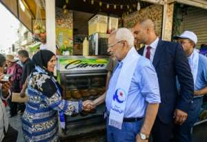 A divisive figure, Ghannouchi has never run for office, standing for the first time in the October 6 legislative elections.  By FETHI BELAID (AFP)