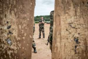 A French soldier participates in a European training mission in the Central African Republic in August 2019.  By FLORENT VERGNES (AFP)