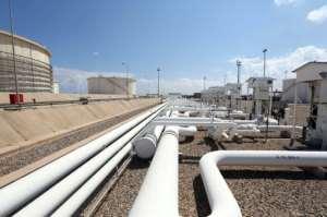 A general view shows the Zawiya oil installation on August 22, 2013 in Zawiya, Libya.  By MAHMUD TURKIA (AFP)