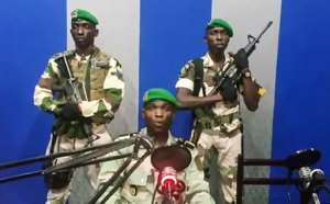 A group of Gabonese soldiers briefly tried to stage a coup before it was quashed by security forces.  By - (YOUTUBE/AFP)