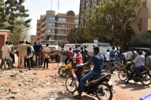 A jihadist attack on a hotel in Ouagadougou in January 2016 killed 29 people including foreigners. By ISSOUF SANOGO (AFP/File)