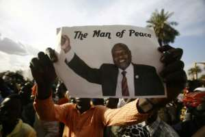 A picture of South Sudanene rebel leader Riek Machar.  By ASHRAF SHAZLY (AFP)