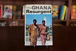 A rare book by author Micheal Dei-Anang is among the collection of out-of-print texts.  By Nipah Dennis (AFP)