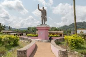 A statue of Ruben Um Nyobe has been erected in Eseka to commemorate his part in Cameroon's independence.  By - (AFP)