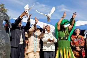 A symbolic burial ceremony of Khoi San leader and freedom fighter David Stuurman was held in Hankey, South Africa, some 200 years after his death in exile in Australia.
