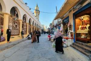 A shopping street in the old quarter of the capital Tripoli.  By Mahmud TURKIA (AFP/File)