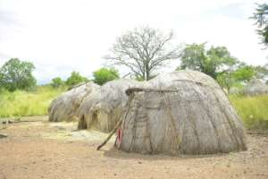 A traditional hut in the Mago National Park, home to the Mursi and the Bodi communities.  By MICHAEL TEWELDE (AFP)