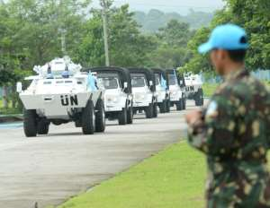 A UN mission was first deployed to Liberia at the end of the war in 2003 to guarantee the safety of the population.  By TED ALJIBE (AFP/File)
