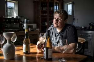 'A wine needs to be pure': Chris Alheit at his kitchen table.  By MARCO LONGARI (AFP)