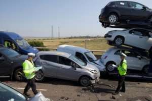 A World Health Organization report shows that some 1.35 millioin people die every year around the world as a result of traffic accidents.  By JUSTIN TALLIS (AFP/File)
