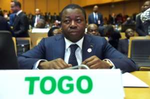 According to the opposition, some 50 people are still jailed after taking part in protests to demand the resignation of Togolese President Faure Gnassingbe (pictured January 2018), who has been in power since 2005 after taking over from his father.  By SIMON MAINA (AFP/File)