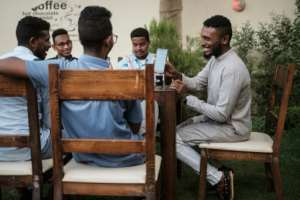 Across Sudan, the internet is now accessible only through land telephone lines or fibre optic cables, and the connection is erratic.  By Yasuyoshi CHIBA (AFP)